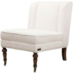 Monica Pedersen Delilah Wingback Chair Ivory ($510) ❤ liked on Polyvore featuring home, furniture, chairs, accent chairs, ivory, upholstered accent chairs, cream chair, wing-back chair, patterned accent chairs and cream colored accent chairs