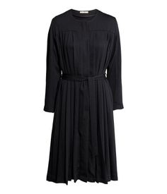 Black pleated coat by H&M