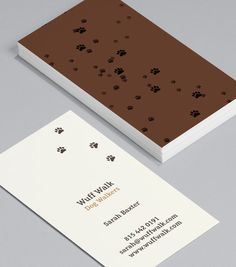 Mucky Pups: these Business Cads for dog walkers are playful and fun, and prove you don't mind looking after a mucky pup. #moocards #businesscard