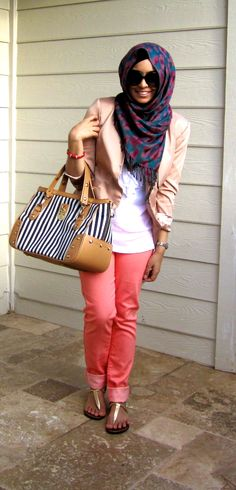 21st century East meets West.  I really like how she keeps it traditional and modern!   Colors! #hijab