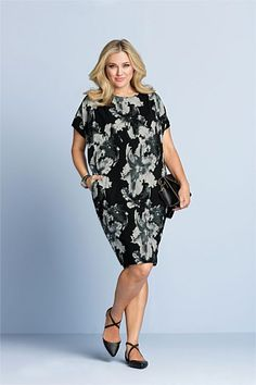 Capture Woman Cocoon Dress at EziBuy Australia. Buy women's, men's and kids fashion online. Plus Size Fashion Dresses, Cocoon Dress, Flattering Dresses, Plus Size Women, Clothes For Women, Lady, My Style, Casual, Stuff To Buy