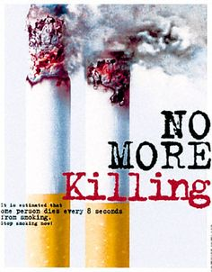 esta mandado un mensaje de que el tabaco mata a miilones de personas