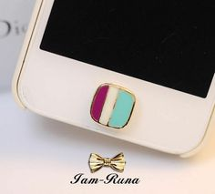 1PC Bling Crystal colorful square  Apple iPhone Home Button Sticker, Apple iPhone Home Button Sticker, on Etsy, $4.99
