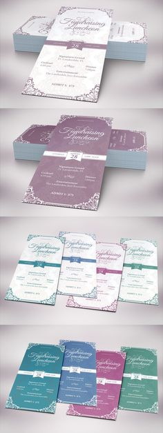 Vintage Luncheon Rack Card Template. Stationery Templates. $8.00