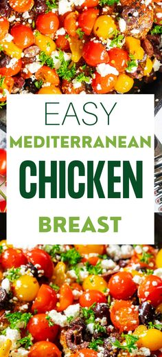 If you enjoy the glow of satisfaction that comes from serving a meal that everyone loves, you are going to love this Mediterranean Chicken Breast. With perfectly seasoned chicken, briny olives, and sweet cherry tomatoes topped off with tangy feta, you have got a meal that never fails to delight. It looks gorgeous on your table, making it perfect for entertaining.