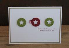 zeit-zum-basteln.de - schnelle Weihnachtskarte mit Stanzen Weihnachtsminis