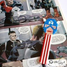 Captain America  Bookmark hama perler beads