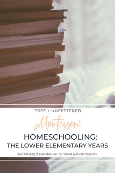 Our Montessori-Inspired Curriculum Plan for Lower Elementary Homeschooling