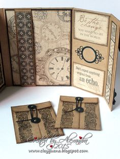*ClayGuana: Graphic 45 Craft Reflections Suitcase Vintage Style Mini Album
