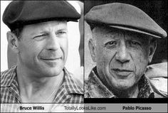 Bruce Willis Totally Looks Like Pablo Picasso
