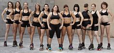 Everybody is shaped for roller derby!