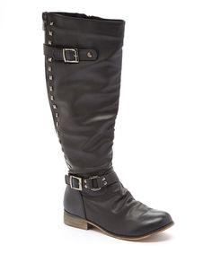 Elite Footwear Black Cindy 2 Boot by Elite Footwear #zulily #zulilyfinds