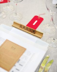 scrabble wedding place setting-board games on the outskirting tables?? Make more fun or distract from dancing??