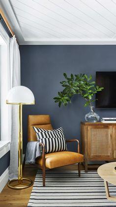 Home Living Room, Living Room Designs, Apartment Living, Kitchen Living, Room Kitchen, Living Room Paint Design, Retro Apartment, Interior Paint Colors For Living Room, Interior Design Color Schemes