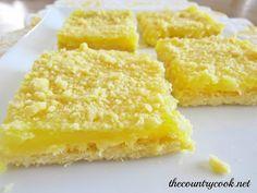 3-Ingredient Lemon Crumble Bars