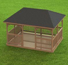 4 Sided Gazebo Hip Roof Building Plans Blueprints 12 Do