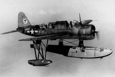 Seaplane Vought OS2U-Kingfisher from the light cruiser USS Miami #plane #WW2