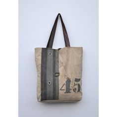 8ab5bbf95008 Cottage Home Recycled Leather Canvas Helimax Shopper Tote Bag (India) -  Overstock Shopping