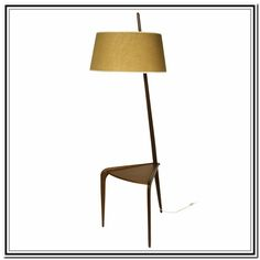 Charming Modern Floor Lamp With Attached Table