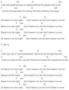 Calvin Harris - Blame Chords Capo 3