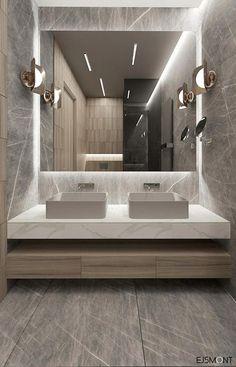 Amazing DIY Bathroom Ideas, Bathroom Decor, Bathroom Remodel and Bathroom Projects to help inspire your bathroom dreams and goals. Bathroom Design Luxury, Modern Luxury Bathroom, Minimal Bathroom, Modern Bathroom Sink, Bathroom Inspiration, Bathroom Ideas, Bathroom Remodeling, Remodeling Ideas, Bathroom Organization