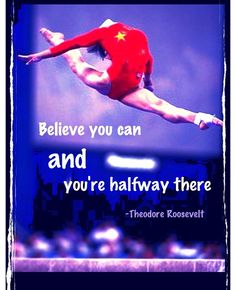 You just have to believe....