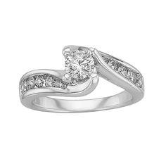 Dazzling 1 ct. tw. Diamond Engagement Ring