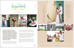 Collage - Camille and Djamel's sweet Sayulita wedding is being featured in the upcoming issue of Destination I Do magazine. http://JillianMitchell.net