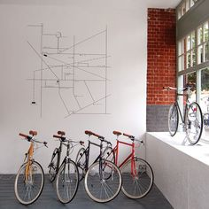 bike map wall graphics, love the subtle graphic