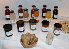 Marmelader, sat og urtesalt fra Lenes Delikatesser.
