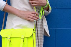 kind of hard to see, but that bracelet is another cute DIY - neon shoelace and silver hex nuts