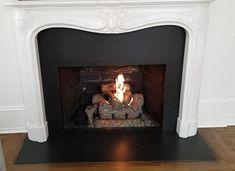 Custom built fireplace stainless flue gas log set draft inducing system