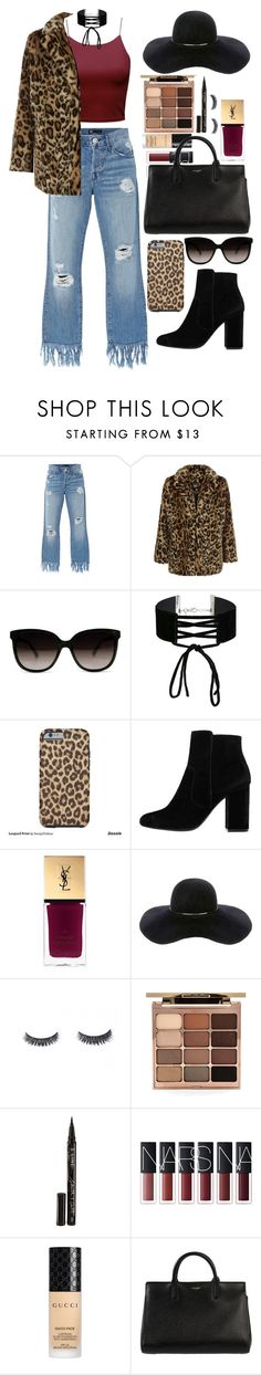 """""""Leopard"""" by ines-lynch ❤ liked on Polyvore featuring 3x1, New Look, Miss Selfridge, MANGO, Yves Saint Laurent, Eugenia Kim, Stila, Smith & Cult, Gucci and emotions"""