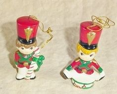 antique porcelain christmas Decorations | See the small card with the code on it? The seller printed that out ...