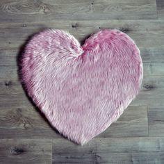 Faux Sheepskin Heart