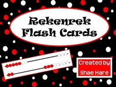 Here's a small set of Rekenrek flash cards for practicing numbers to 20.