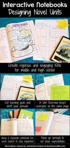 Using Interactive Notebooks to teach class novels can be rigorous and engaging, even for middle and high school. Here are some tips and tricks for setting up your novel units. Read more at Teaching Literature, Teaching Reading, Teaching Resources, Reading Lessons, Teaching Ideas, Teaching Class, High School Literature, Literature Circles, Teaching Time
