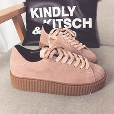 Women Shoes Creepers rihanna Shoes Women Flats Shoes Platform Women Casual Shoes Zapatos Mujer Suede Loafers Ladies Shoes 748-in Women's Flats from Shoes on Aliexpress.com | Alibaba Group