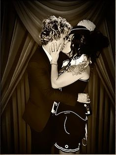 Billie Joe Armstrong and Adrienne Armstrong at his 40th B-Day