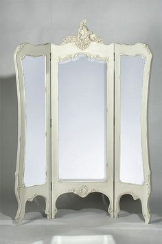 dressing screen with mirrors