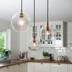 Gloria Klar Hengelampe Kobber 16/19/27/32 cm-0 Lamp Design, Lighting Design, Living Comedor, House Inside, House Extensions, Sweet Home, Home And Garden, Ikea, Ceiling Lights