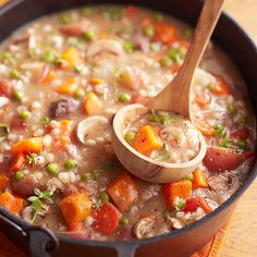 Beef and Barley Stew ... minus the beef of course ... so I guess it's more like vegetable barley stew.