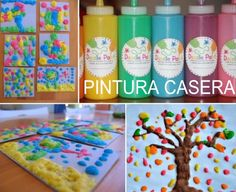 Manualidades pintura relieve casera atóxica Summer Crafts, Diy Crafts For Kids, Easy Crafts, Arts And Crafts, Kindergarten Activities, Infant Activities, Activities For Kids, Toddler Preschool, Art Education