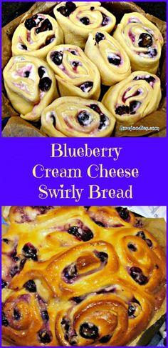 BLUEBERRY CREAM CHEESE SWIRLY BREAD .... oh my! Serious soft, sticky, creamy yummy! Happy baking!