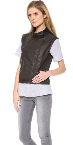 Rag & Bone/JEAN Leather Moto Vest | SHOPBOP