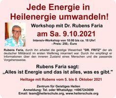 Seminar am 9.10.2021 mit Rubens Faria Workshop, Atelier, Work Shop Garage
