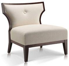 Sidney Linen Slipper Chair - contemporary - chairs - toronto - by Jane Lockhart Interior Design