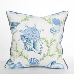 Biscayne Collection Sumba Pillow / White