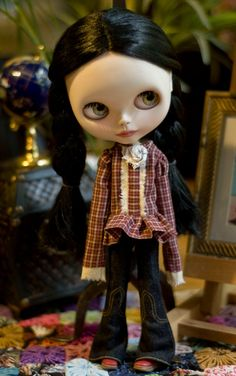 American Plaid. Sugar Mountain Top For Blythe Doll