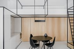 due to the space arrangement, MUS architects has fulfilled the clients' functional plan in a small area while keeping the openness of the living space.